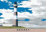 Orkney: North Ronaldsay Lighthouse – poster - natural - Indy Prints by Stewart Bremner