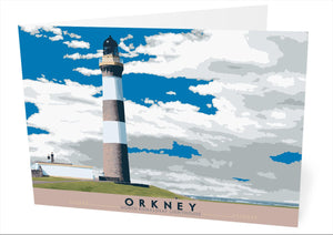 Orkney: North Ronaldsay Lighthouse – card