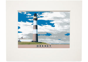 Orkney: North Ronaldsay Lighthouse – small mounted print