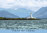 Firth of Lorne: Lismore Lighthouse – poster - natural - Indy Prints by Stewart Bremner