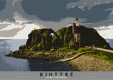 Kintyre: Sanda Lighthouse – giclée print - natural - Indy Prints by Stewart Bremner