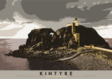 Kintyre: Sanda Lighthouse – giclée print - grey - Indy Prints by Stewart Bremner