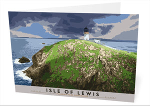 Isle of Lewis: Flannan Isles Lighthouse – card - Indy Prints by Stewart Bremner