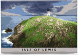 Isle of Lewis: Flannan Isles Lighthouse – magnet - natural - Indy Prints by Stewart Bremner