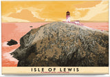 Isle of Lewis: Flannan Isles Lighthouse – magnet - orange - Indy Prints by Stewart Bremner
