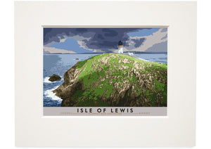 Isle of Lewis: Flannan Isles Lighthouse – small mounted print - Indy Prints by Stewart Bremner