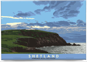 Shetland: Sumburgh Head Lighthouse – magnet - Indy Prints by Stewart Bremner