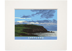 Shetland: Sumburgh Head Lighthouse – small mounted print