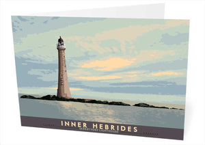Inner Hebrides: Skerryvore Lighthouse – card - Indy Prints by Stewart Bremner