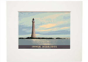 Inner Hebrides: Skerryvore Lighthouse – small mounted print