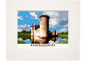 Dumfriesshire: Caerlaverock Castle – small mounted print - Indy Prints by Stewart Bremner