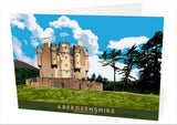 Aberdeenshire: Braemar Castle – card - natural - Indy Prints by Stewart Bremner