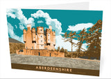 Aberdeenshire: Braemar Castle – card - orange - Indy Prints by Stewart Bremner