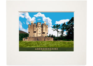 Aberdeenshire: Braemar Castle – small mounted print - Indy Prints by Stewart Bremner
