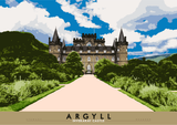 Argyll: Inverary Castle – giclée print - natural - Indy Prints by Stewart Bremner