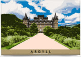 Argyll: Inverary Castle – magnet - natural - Indy Prints by Stewart Bremner