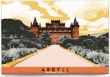 Argyll: Inverary Castle – magnet - orange - Indy Prints by Stewart Bremner