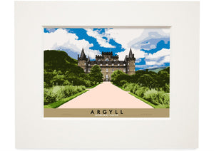 Argyll: Inverary Castle – small mounted print