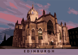 Edinburgh: St Giles Cathedral – poster - natural - Indy Prints by Stewart Bremner
