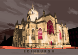 Edinburgh: St Giles Cathedral – poster - brown - Indy Prints by Stewart Bremner