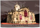 Edinburgh: St Giles Cathedral – magnet - brown - Indy Prints by Stewart Bremner