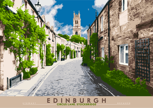 Edinburgh: Circus Lane, Stockbridge – giclée print - Indy Prints by Stewart Bremner