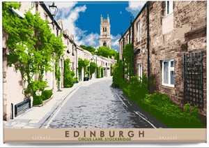 Edinburgh: Circus Lane, Stockbridge – magnet - Indy Prints by Stewart Bremner