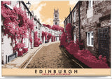 Edinburgh: Circus Lane, Stockbridge – magnet - red - Indy Prints by Stewart Bremner