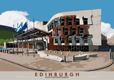 Edinburgh: Scottish Parliament – giclée print - natural - Indy Prints by Stewart Bremner