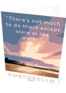 Staring at the water in Portobello – card