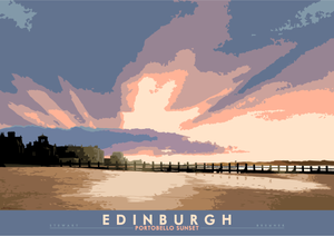 Edinburgh: Portobello Sunset – giclée print