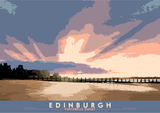 Edinburgh: Portobello Sunset – giclée print - natural - Indy Prints by Stewart Bremner