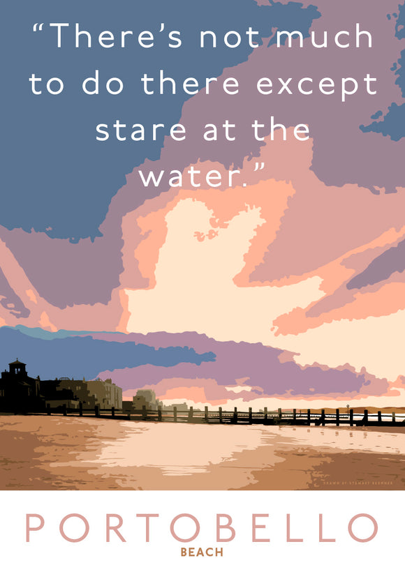 Staring at the water in Portobello – giclée print