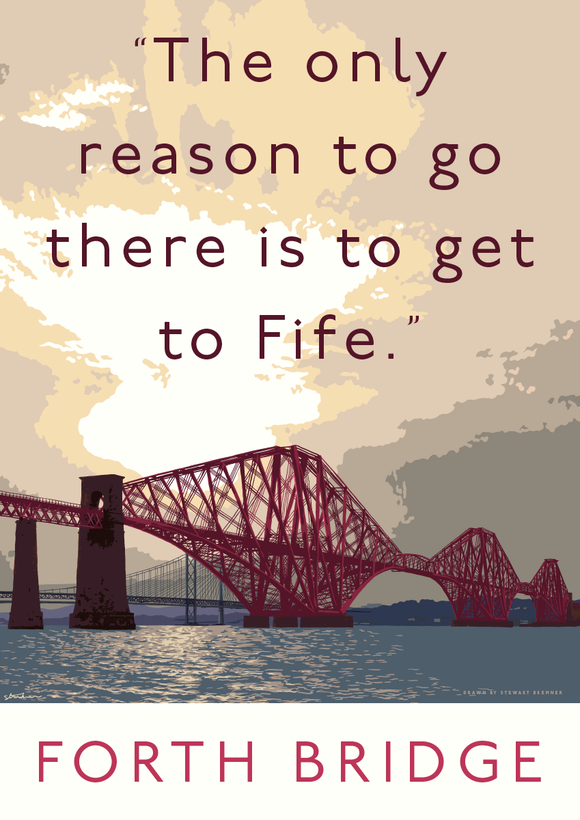 The Forth Bridge goes to Fife – giclée print