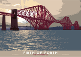 Firth of Forth: the Forth Bridge – poster - natural - Indy Prints by Stewart Bremner