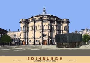 Edinburgh: University McEwan Hall – giclée print - Indy Prints by Stewart Bremner