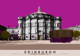 Edinburgh: University McEwan Hall – giclée print - pink - Indy Prints by Stewart Bremner
