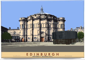 Edinburgh: University McEwan Hall – magnet - Indy Prints by Stewart Bremner