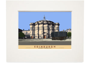 Edinburgh: University McEwan Hall – small mounted print - Indy Prints by Stewart Bremner