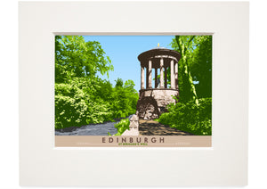 Edinburgh: St Bernard's Well – small mounted print