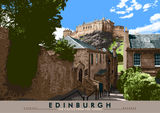Edinburgh: the Castle from The Vennel – poster