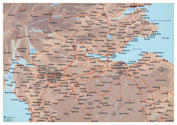 Scots map of Central Scotland