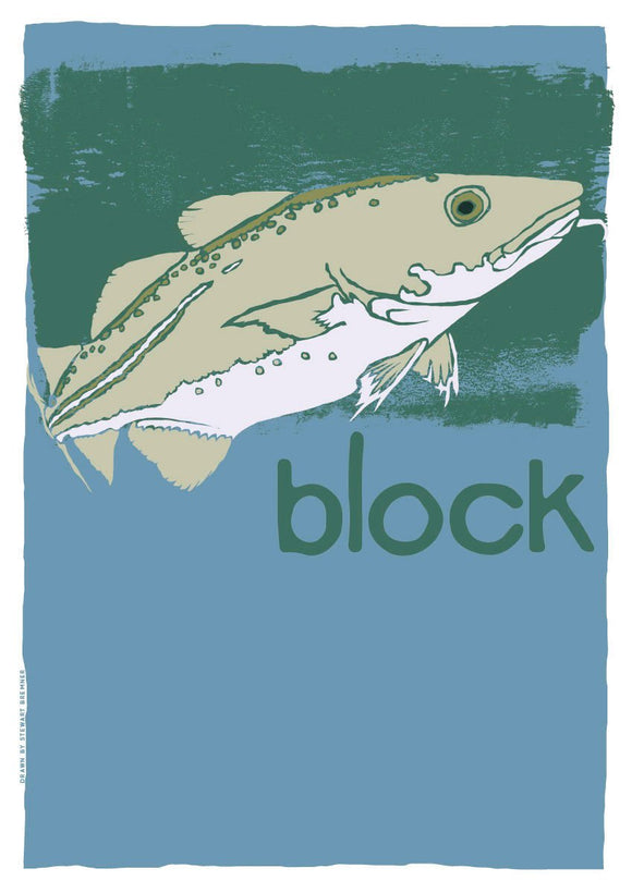 Block – poster – Indy Prints by Stewart Bremner