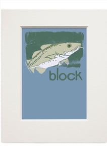 Block – small mounted print - Indy Prints by Stewart Bremner