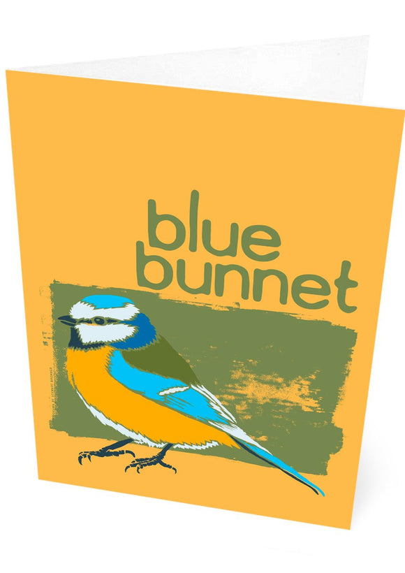 Blue bunnet – card – Indy Prints by Stewart Bremner
