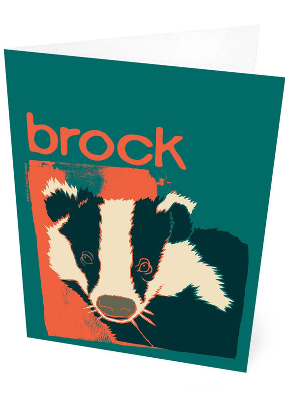 Brock – card – Indy Prints by Stewart Bremner