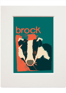 Brock – small mounted print - Indy Prints by Stewart Bremner