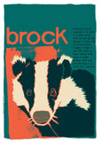 Brock – poster – Indy Prints by Stewart Bremner