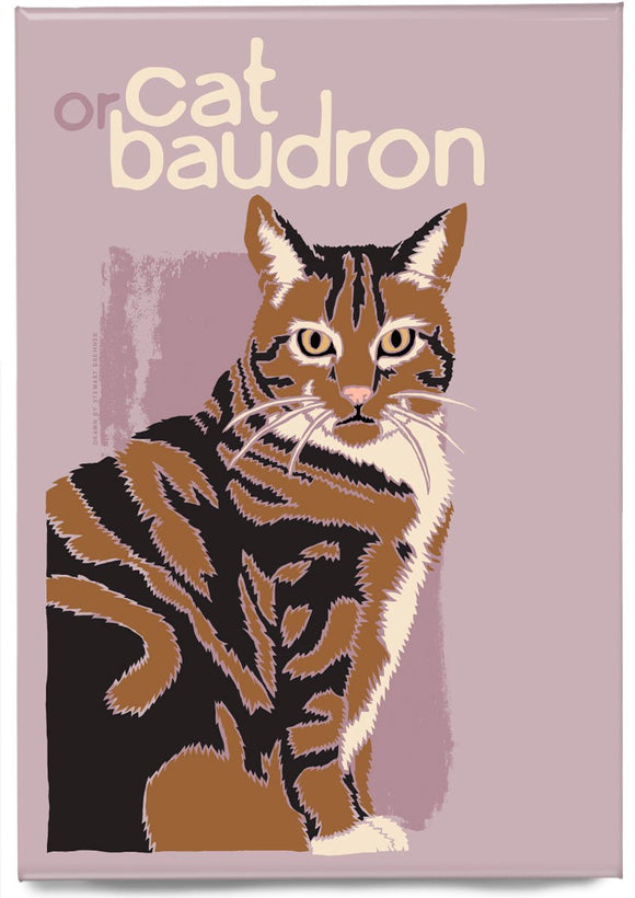 Cat or baudron – magnet – Indy Prints by Stewart Bremner