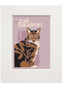Cat or baudron – small mounted print - Indy Prints by Stewart Bremner